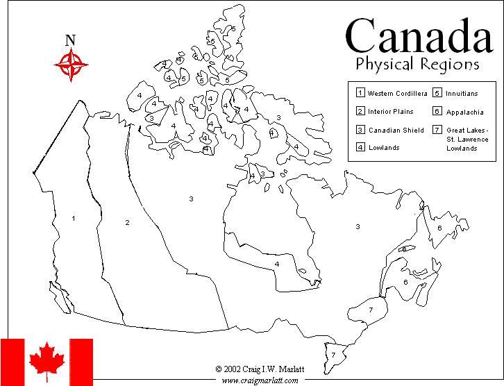 7 Physical Regions Of Canada Map CanadaInfo: Images & Downloads: Fact Sheets to Download: Maps