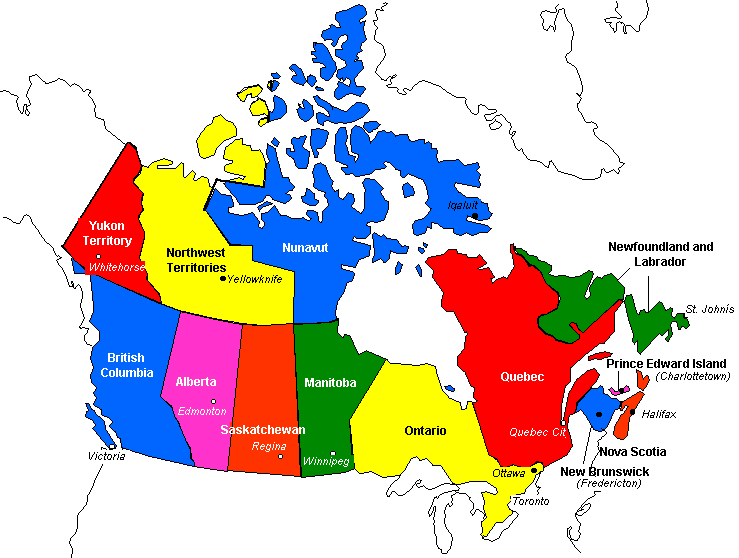 Pics Of Canada Map.Canadainfo Geography Maps Maps Political